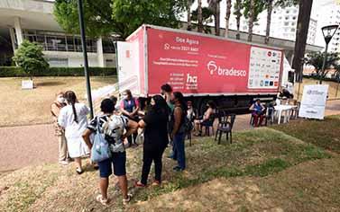 Sanasa recebe unidade móvel do Hospital de Amor de Campinas